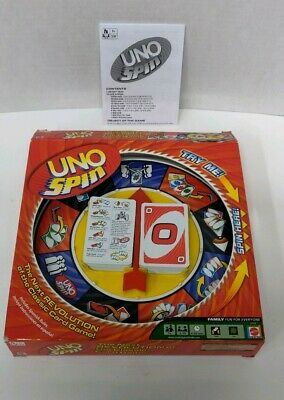 UNO Spin Family Card Game  by Mattel - Fast Free Shipping complete