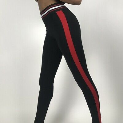 Zara Red And Black Leggings Size Large 12/14