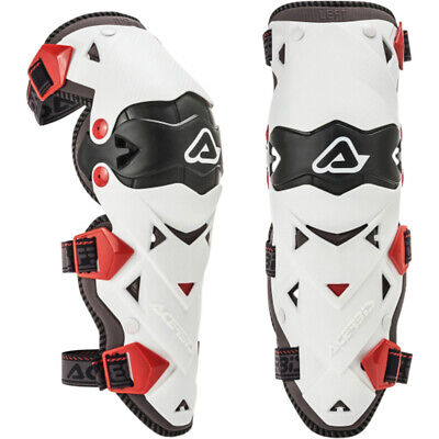 NEW Acerbis MX Impact Evo 3.0 White Motorcycle Protection Knee Guards