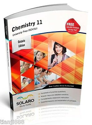 SOLARO Study Guide - Ontario Chemistry 11, University Preparation (SCH3U)