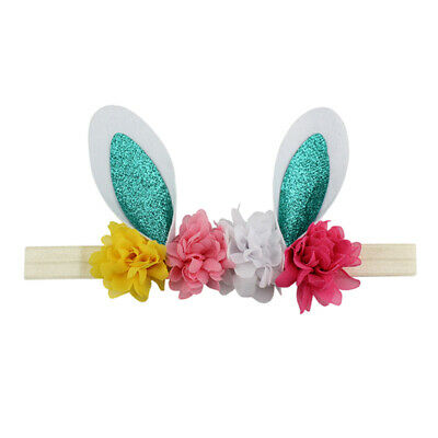 Easter Babies Headband Flower Rabbit Ears Children Holiday Decor