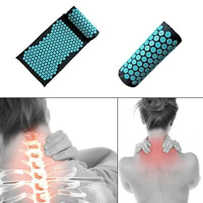 Acupressure Massage Yoga Mat Cushion Pillow Pain Relief Stress Sore Spike Pad
