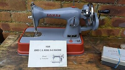Vintage / Retro Jones Heavy Duty Sewing Machine Model D 65 Hand Crank  button