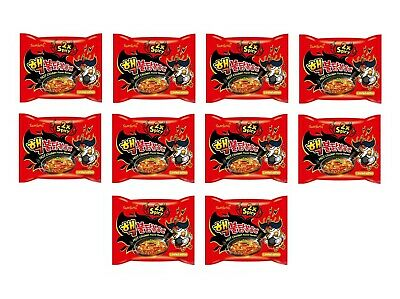 Rote Samyang Hot Chicken Bigpack: 10 x 140g Instant Nudeln Ramen Scharf ROT