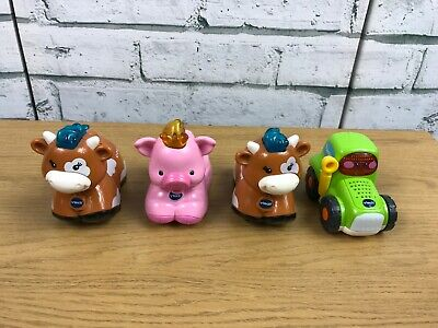 Vtech Toot Toot Farm Animals - 2 cows & 1 pig + Tractor