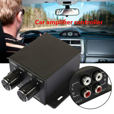 Premium Knob Bass Controller Amplifier Cars Crossover Car Level Home Subwoofer