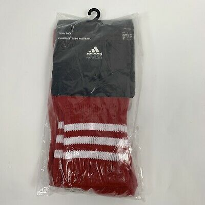 Adidas Team Sock Football Red Adisock UK Shoe 4.5 - 6  Size 2