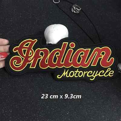 Indian Motorcycle Large 23.5 Cm Wide.sew Or Iron On  Patch