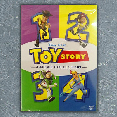 TOY STORY 1 2 3 4 4-Movie (6-Disc)DVD Complete Collection Free First Class