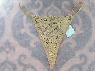 NEW Fredericks Of Hollywood String Thong Lace Panty Size L