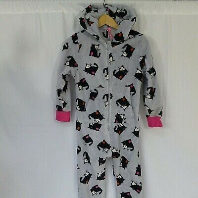 Girls NEXT cat 1onesie PJ's pyjamas age 9 years