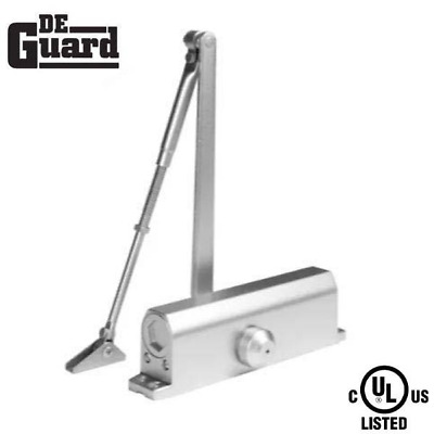 Hydraulic Door Closer /  Back Check / Grade 1 - Satin Nickel - Adjustable Size 1