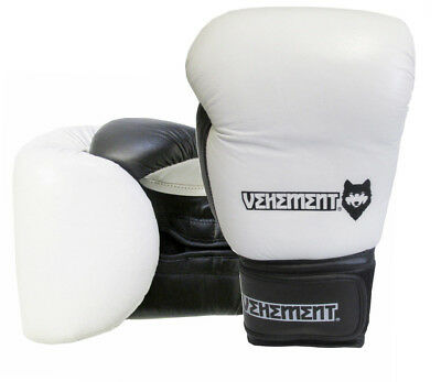 Boxing Gloves Sparring MMA Muay Thai Punch Bag Leather Kickboxing 16oz Pad Mitts