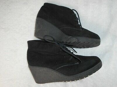 NEW LOOK 915 Generation girls Ankle Boots Size 4 EUR 37 Black Faux Suede