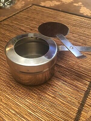 8 oz Fuel/stetno stainless steel round silver holders with cover 20 Pieces