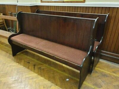 2x Upholstered Church Pew 6ft Long 22'' Wide, (Pair)