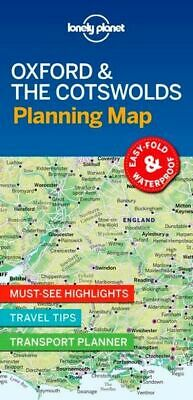 Lonely Planet Oxford & the Cotswolds Planning Map FREE SHIPPING