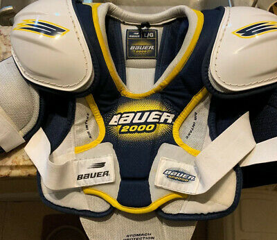 BAUER SP 2000 PROTECTIVE SHOULDER PADS HOCKEY  Large Pre Owned