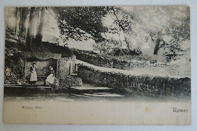 Wishing Well Upwey England Vintage Antiquarian Collectable Postcard.