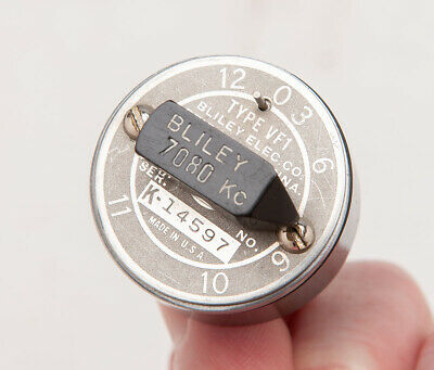 VINTAGE WWII BLILEY VF1 Quartz Crystal Variable Frequency - 7080 KC