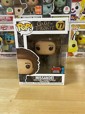 Funko Pop Game Of Thrones Missandei NYCC 2019 B & N Exclusive W/ Pop Protector