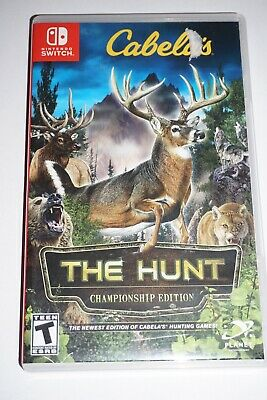 Cabela's The Hunt Championship Edition (Nintendo Switch) Complete GREAT Shape
