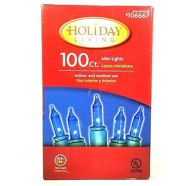 Holiday Living 300 Count Blue Icicle Lights White Wire Indoor//Outdoor NIB