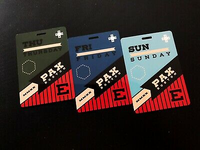 PAX East 2020 Thursday, Friday & Sunday Badges (Selling as a set)