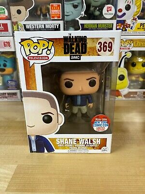 Funko Pop The Walking Dead Shane Walsh NYCC 2016 Exclusive W/ Pop Protector