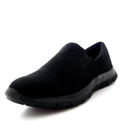 Womens Walking Slip On Gym Sports Running Shoes Jogging Work Trainers UK 3-9