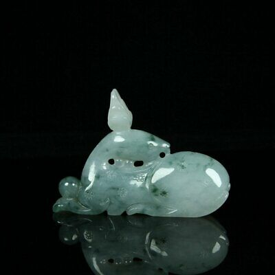 Chinese Exquisite Hand-carved Jadeite jade statue