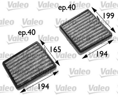 Innenraumfilter CLIMFILTER PROTECT VALEO 698742