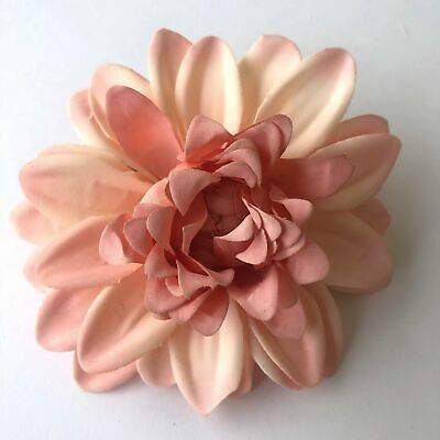 Artificial Silk Flower Heads - Vintage Coral Chrysanthemum Style 26 - 1pc