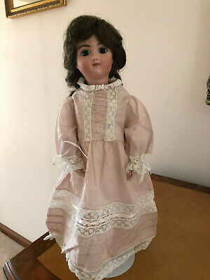 Porcelain/Bisque Doll - White 41cm tall, on a stand