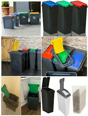 Plastic Recycle Recycling Bin Touch Top Bins Waste Storage & Pet Food Container