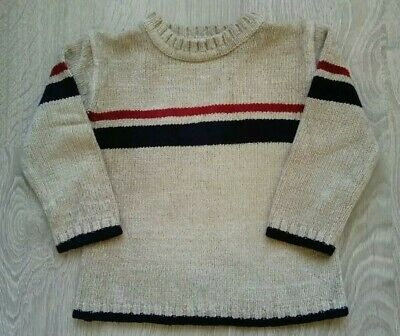 Boys Warm, Thick, Cream Knitted Jumper, BHS. Aged 3 years. Great Condition.