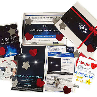 Personalised Family Valentines Gifts Name A Star Box Set Nan Grandad Mum Dad