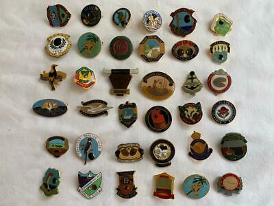 Great Collectable Vintage 36Pc Mixed Bowling Club Enamel Badges
