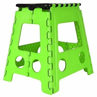 Plastic Folding Step Stool New Multi Purpose Kitchen Foldable Easy Storage Green