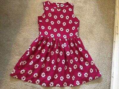 Marks & Spencer Kids Age 13-14 Years Pretty Pink/White Dress Fully Lined Spring