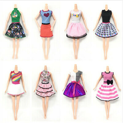 5Set/Lot Fashion Design Princess Doll Dress Party Dresses Doll Outfits Clothing