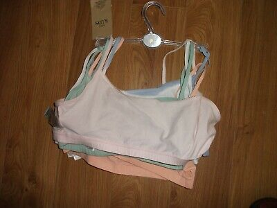bnwt marks and spencer M+S  girls 15/16 crop tops  underwear 5 pack