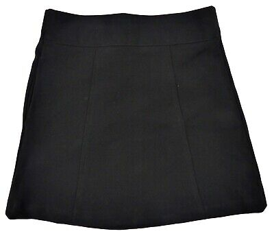 Girls Black School Skirt Ages 3-4 Years and 4-5 Years Elasticated Wist Pull-on