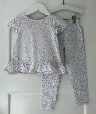 Little White Company Girls Floral Short Sleeved PJs, Age 2-3, really cute!