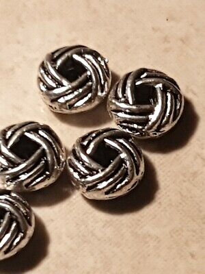Tibetan silver Knot Bead Spacers x 35