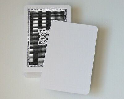 50 Blank Playing Cards / Flash Cards - Blank One Side