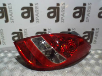 Hyundai I20 1.4 Diesel 2011 Drivers Side Rear Light Cluster