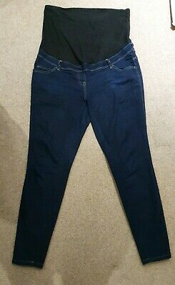 Next Maternity Skinny Jeans Over Bump Size 16L Excellent Condition