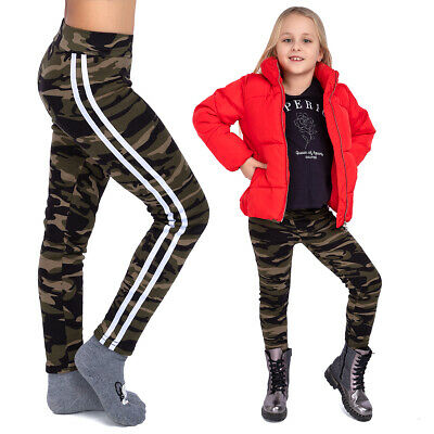Girls Patterned Leggings Anime Print Solid Pants for School and Playground FS583