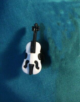Cute VIOLIN Musical Instrument Music Band Holey Clog Shoe Charms Charm
